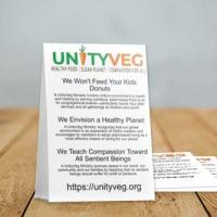 UnityVeg table tent (table photo by Nathan Dumlao)